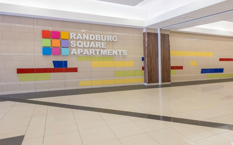 Entrance to Randburg Square Apartments