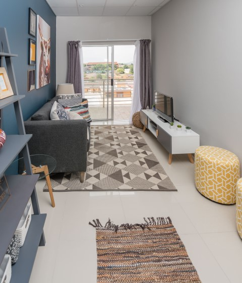 Randburg Square Apartment lounge area