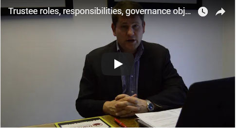 Trustee roles, responsibilities, governance objectives and effective decision making recommendations